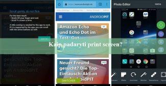 kaip padaryti print screen