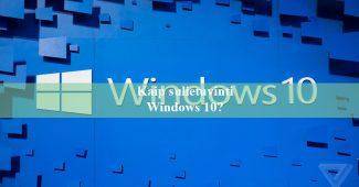 Kaip sulietuvinti Windows 10