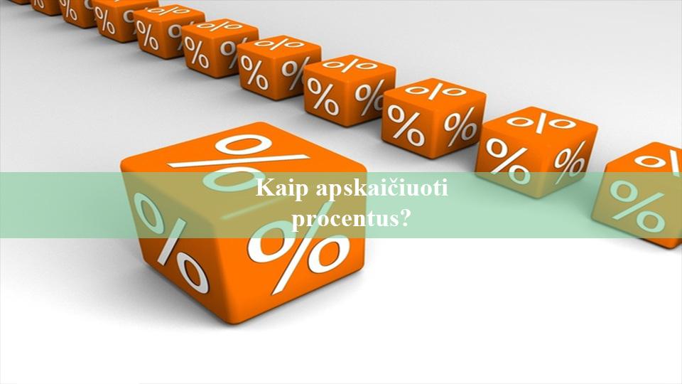 Kaip apskaičiuoti procentus