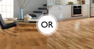 Kuo skiriasi vinilinės grindys nuo laminato